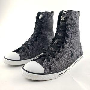Converse One Star Hi top Charcoal Sparklesz 8